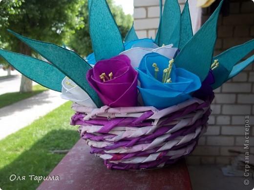 корзиночка с цветами фото 2