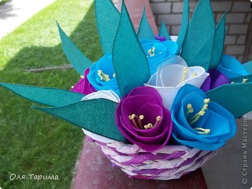 корзиночка с цветами фото 3