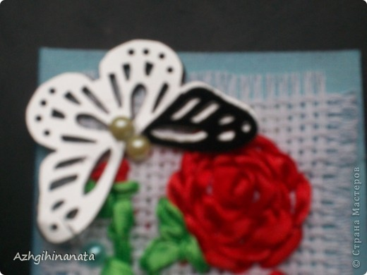 Новая серия с вышивкой лентами и дырокольными бабочками. Лентами только пробую вышивать. Прошу строго не судить за простоту. фото 2
