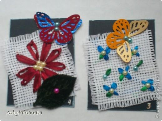 Новая серия с вышивкой лентами и дырокольными бабочками. Лентами только пробую вышивать. Прошу строго не судить за простоту. фото 3