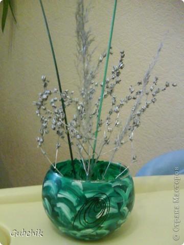 Вот такие сувенирчики я собирала подружкам к прошедшему новому году.  Расписывала акрилом вазочки и собирала в них абстрактные композиции из шишек и сухих полевых растений, заспреянными разными красками из баллончиков + немного декора. Девченкам моим понравилось! Все дешево, но необычно и интересно, может кому пригодится моя идея! фото 6
