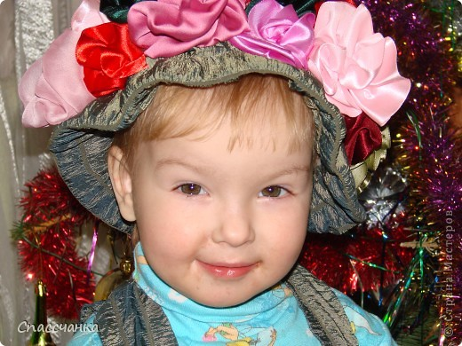 Моя маленькая модель-Ева, два с половиной года а хотела быть красивой!! Поэтому решили новогодний костюм шить сами!!! фото 4