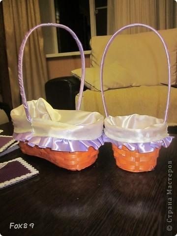 Приглашения, корзиночки для лепестков, подушечка под кольца. фото 2