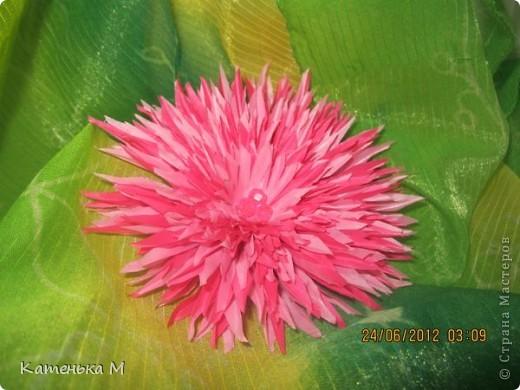 Новые цветочки из ткани фото 2