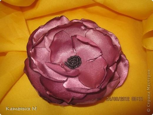 Новые цветочки из ткани фото 5