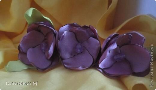 Новые цветочки из ткани фото 8
