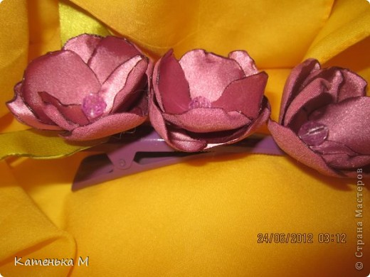 Новые цветочки из ткани фото 7