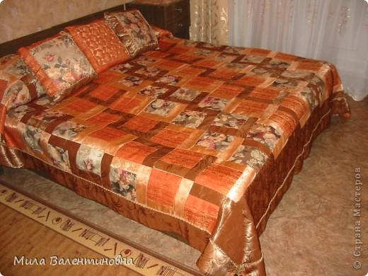 Покрывало и три подушки, подарок маме на 8 Марта. фото 1