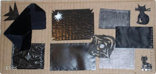 """Вот такую развавашку я сделала для одного малыша.  Использованы материалы: картон, бумага, цветной полиэтилен, пластик, шлейф, вырезанные картинки, нитки, спицы, крючок, резинки канцелярские, упаковка от кофе, губки для мытья посуды, тканевые салфетки крашеные акварелью, ткань и прочая разноцветность. Конечно, это скорее подходит к разделу """"Аппликация"""", чем к """"Вязанию"""", но саму идею я подсмотрела именно из навязанных разноцветных квадратиков, пришитых к картонным листам. Я же в своей работе хотела не только цвет малышу показать, но и оттенки этих цветов, а так же чтоб он пальчиками потрагал разную материальность: гладкую-шершавую, твёрдое-мягкое.  Ребёнку подарок очень понравился - сразу попытался оторвать резинки)) фото 11"""