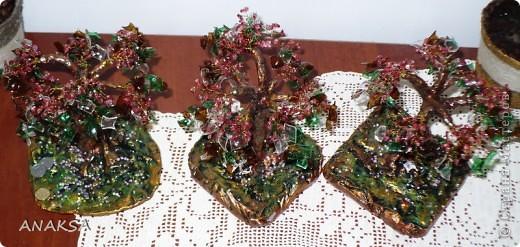 всем Здравствуйте!!!решила еще поэкспериментировать и сделала подарочки сестрам!всего три деревца  фото 3