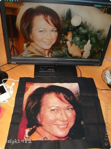 Портрет(вышивка) фото 1