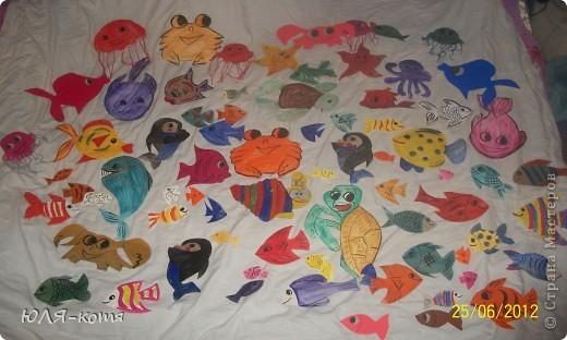 вот сколько морских жителей я сделала.дочке в садик нужно украсит беседку.тема-морская.как говорится-как смогла.... фото 1