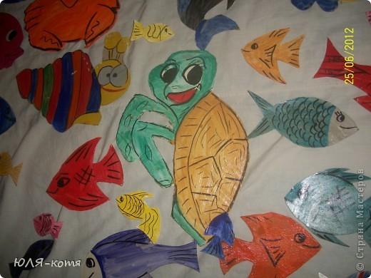 вот сколько морских жителей я сделала.дочке в садик нужно украсит беседку.тема-морская.как говорится-как смогла.... фото 4