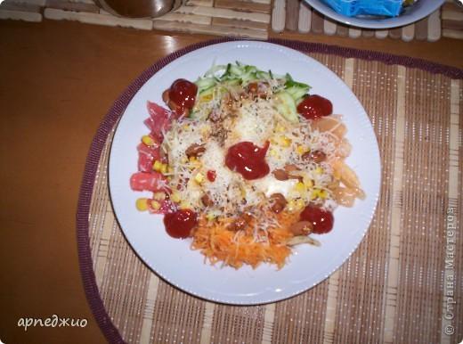 """Сложный салат. Рецепт, навеянный походом в ресторан """"Старый Лямус"""" в г.Гродно, Беларусь."""