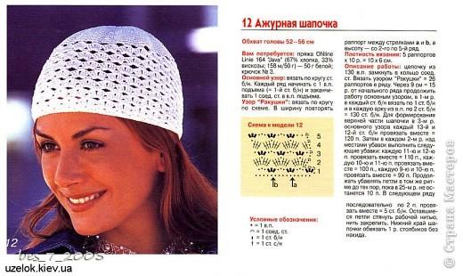 Ажурная шапочка фото 2
