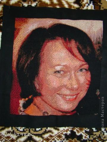 Портрет(вышивка) фото 2
