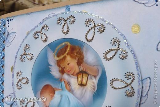 У сестренки родился сынок, сделала им такую открыточку. фото 3