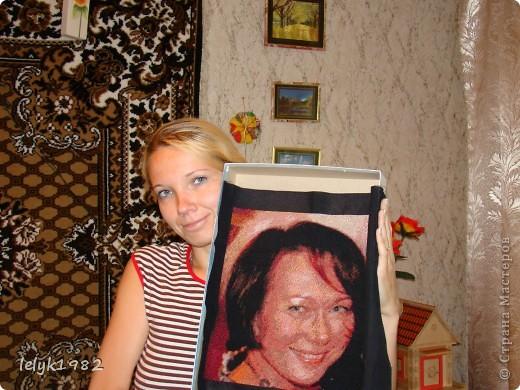 Портрет(вышивка) фото 3
