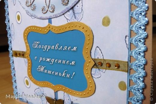 У сестренки родился сынок, сделала им такую открыточку. фото 5