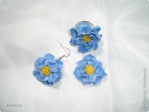 Голубые цветы (комплект)