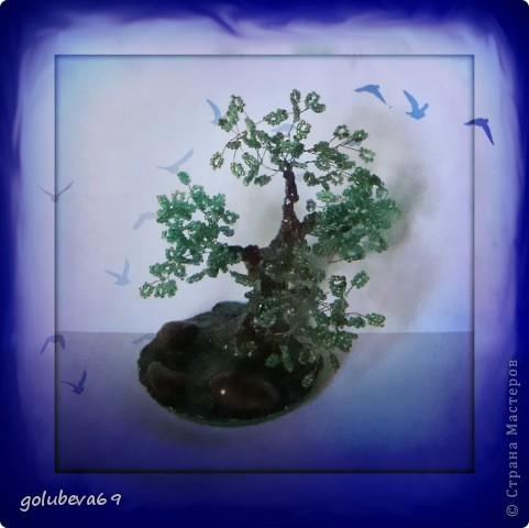 Ещё одно дерево из бисера. фото 2