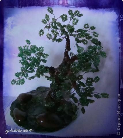 Ещё одно дерево из бисера. фото 3