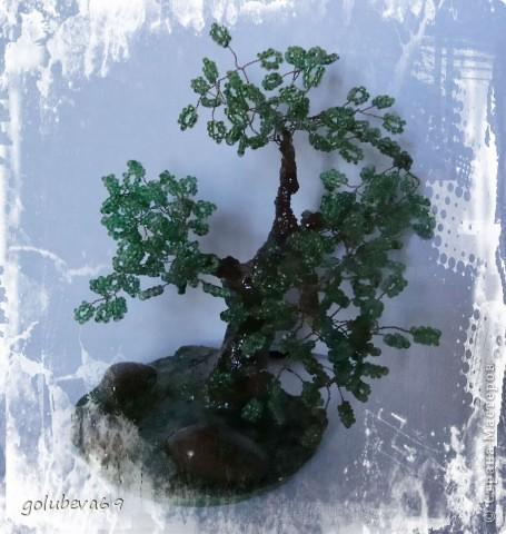 Ещё одно дерево из бисера. фото 4