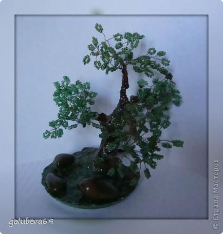 Ещё одно дерево из бисера. фото 1