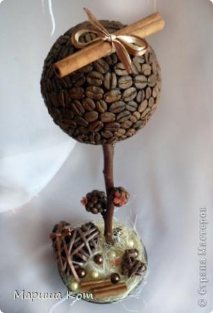 Привет Страна Мастеров! Ещё одно кофейное деревце готово. Делала его в подарок, надеюсь имениннице оно понравится....  фото 2