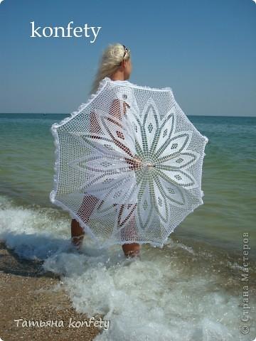 вязаные зонты Нитки фото 1