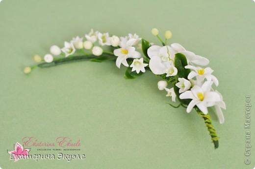 Для украшения были выбраны цветы: лилия, ландыши, гиацинт и гортензия фото 3