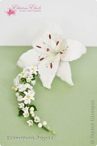 Для украшения были выбраны цветы: лилия, ландыши, гиацинт и гортензия фото 1