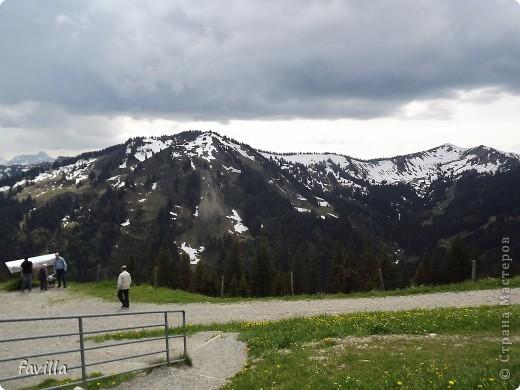 Продолжение. Начало:  http://stranamasterov.ru/node/379987  Это когда мы поднялись на конечную станцию. Горы называются Хорнгруппе.   фото 3