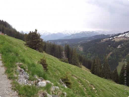 Продолжение. Начало:  http://stranamasterov.ru/node/379987  Это когда мы поднялись на конечную станцию. Горы называются Хорнгруппе.   фото 6