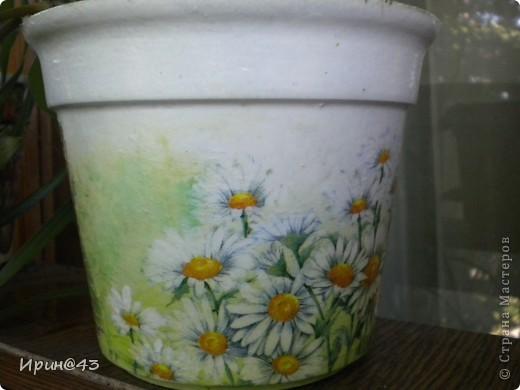 Решила украсить цветочный горшочек. фото 6
