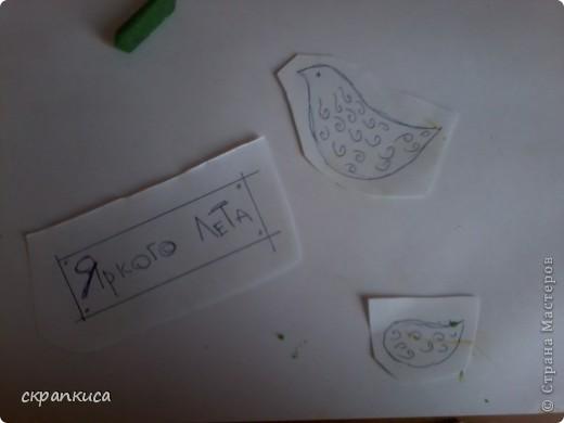 Привет!!! Я хочу вам рассказать о том, как можно сделать такую симпатичную открыточку с птичкой!!! А дело было так! Захотелось моей творческой душе наколдовать открыточку. Ну, я по сусекам помела и нашла только остатки красок и поломанную масляную пастель... фото 7