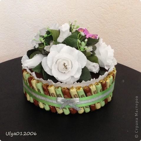 """Торт """"Белые розы"""" фото 1"""