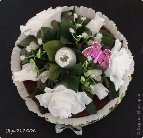 """Торт """"Белые розы"""" фото 2"""