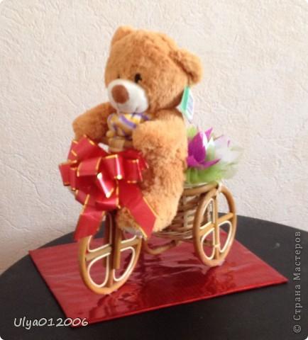 Мишка на велосипеде фото 1