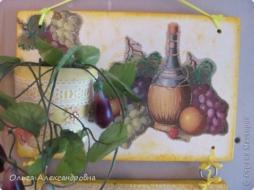 Очень понравилось панно Физалии http://stranamasterov.ru/node/357421?c=favorite  и решила тоже сделать что - то подобное на кухню на даче. Не обращайте внимания на фон, обои еще не наклеены, но куплены, бежевые с гроздьями винограда, поэтому и салфеточки выбирала под стать обоев.  фото 5