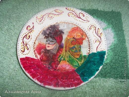 """Тарелка """"Венецианский карнавал"""" фото 1"""