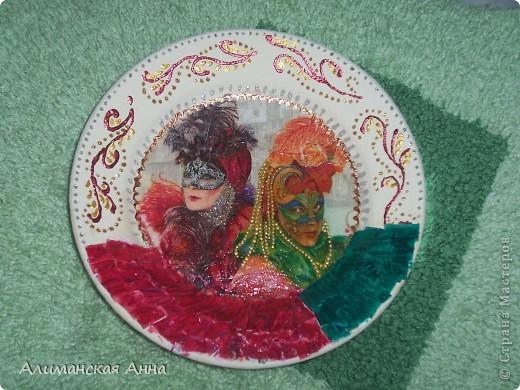 """Тарелка """"Венецианский карнавал"""" фото 2"""