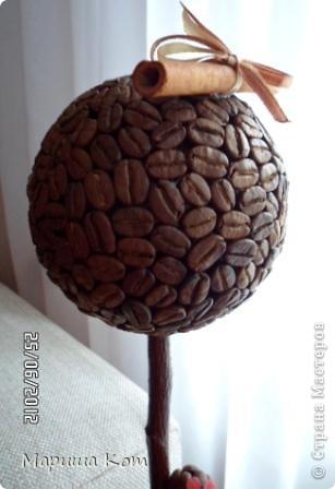 Привет Страна Мастеров! Ещё одно кофейное деревце готово. Делала его в подарок, надеюсь имениннице оно понравится....  фото 3