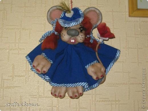 Вдохновлённая мышками Елены(LenorCHIK),вот сделала свою мадмуазель Мышкину))) фото 1