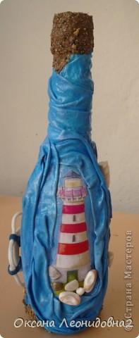 Попросили оформить бутылку коньяка с маяком.Ну и понеслось, фантазия так разгулялась...жаль бутылочка маленькая... фото 1