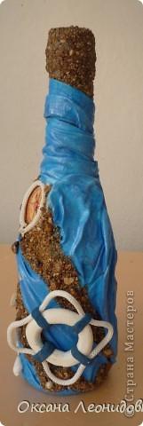 Попросили оформить бутылку коньяка с маяком.Ну и понеслось, фантазия так разгулялась...жаль бутылочка маленькая... фото 2
