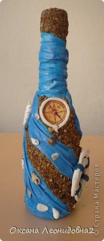Попросили оформить бутылку коньяка с маяком.Ну и понеслось, фантазия так разгулялась...жаль бутылочка маленькая... фото 4