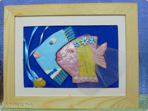 """Выставка """"Фантастические рыбы моря"""". Работа воспитанников детского клуба """"Факел""""г.Смоленск. В Выставки принимали участие дети от 8 до 12лет. Это """"рыбы-банкиры"""" фото 2"""