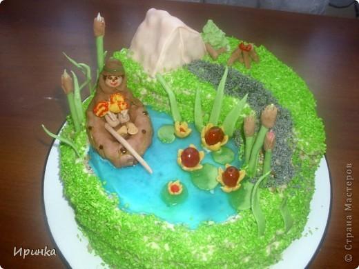 Тортик для свекра-любителя рыбалки. фото 1