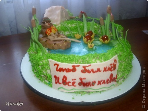 Тортик для свекра-любителя рыбалки. фото 2